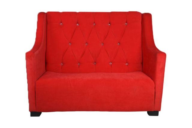 Victorian Dbl Lounger Red