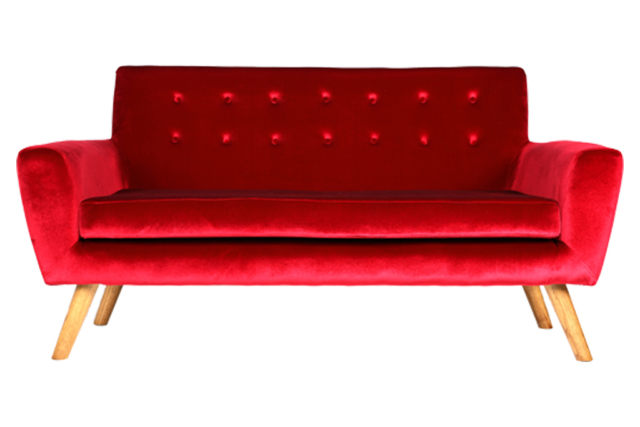 Red Sexton Double Seater Couch