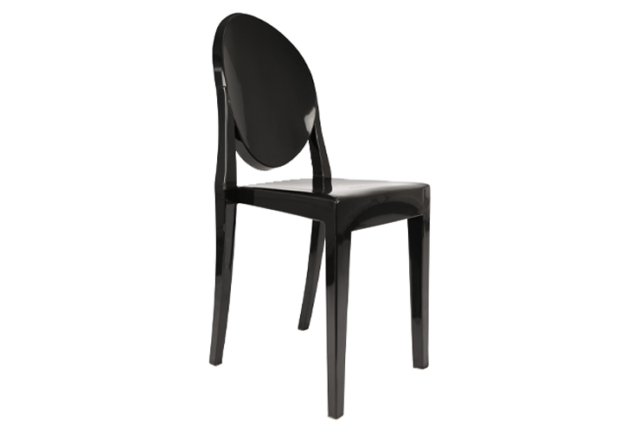 We've Got the Look - Arabian Nights - Ghost Side Dining Chair Black - Themed Events