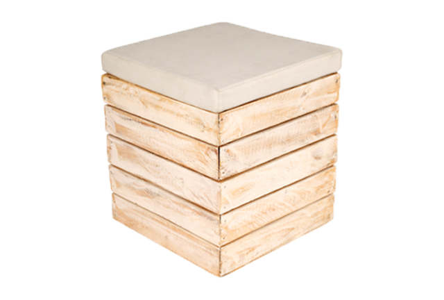 We've Got the Look - Movie Night Outdoors - White Washed Pallet Ottoman - Themed Events